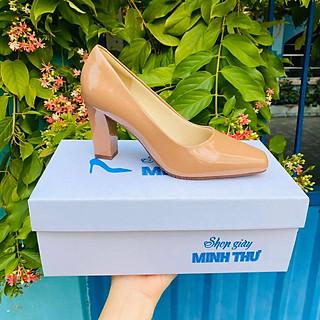 [ Shop giày somina ] Giày VIP gót trụ 7cm mũi vuông MT166
