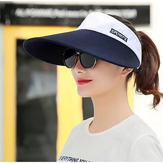 Nón chống nắng rộng vành nửa đầu phong cách Hàn, mũ rộng vành chống nắng cao cấp nữ