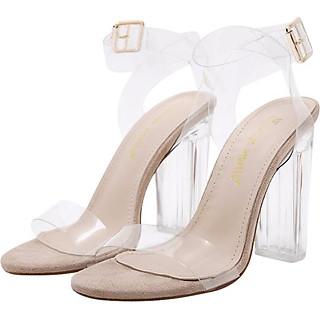 Giày Sandal Cao Gót - Trong Suốt