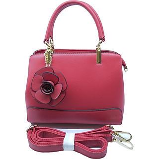 Túi xách nữ thời trang công sở đính kèm hoa- màu đỏ