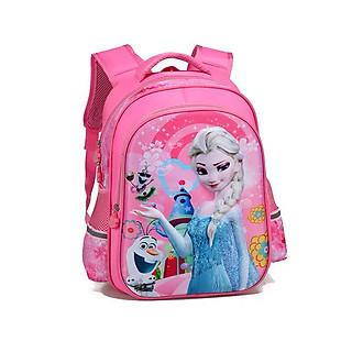Balo đi học cho bé gái màu hồng màu tím công chúa elsa FROZEN mẫu giáo cấp 1 tiểu học TE3