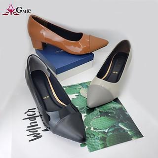 Giày Cao Gót 3P Passant Ngang Kiểu Sang Trọng | Giày Cao Gót Thời Trang Cao Cấp GMIC-NH667