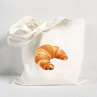 Túi Vải Đeo Vai Tote Bag In Hình Chiếc Bánh Mì - Mẫu004