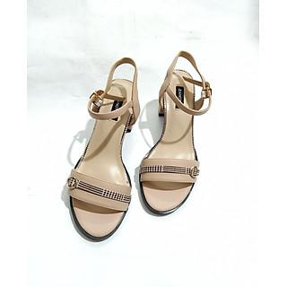 Giày sandals nữ cao gót cao gót vuông 5cm  quai ngang MH 11152