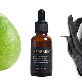Serum mọc tóc tinh dầu vỏ bưởi & tinh dầu bồ kết herbario 30ml tinh chất kích thích mọc tóc nhanh, ngăn rụng tóc, hỗ trợ trị Rụng Tóc, làm tóc dài nhanh