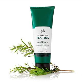 Sản Phẩm Đa Năng 3 in 1 The Body Shop Tea Tree 3-In-1 Wash Scrub Mask 125ml