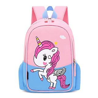 Balo cho trẻ in hình ngựa PoNy phối màu cao cấp thời trang Tặng combo 4 món