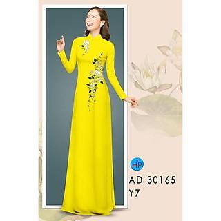 vải may áo dài in hoa văn 3d họa tiết sắc nét (cả bộ vải)