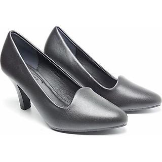 Giày Nữ Cao Gót Công Sở 7 Phân Đen Mờ B2236