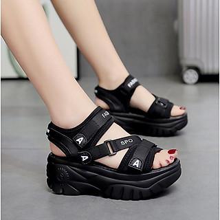 Giày sandal nữ đế bánh mì cá tính S116