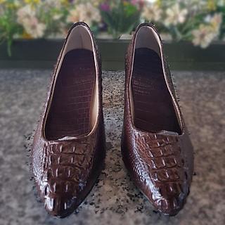 Giày cao gót nữ da cá sấu 5