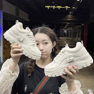 Giày Thể Thao Nữ Độn Đế Cá Tính, Đi Lên SIêu Gọn, Dáng Nữ Hàn Quốc
