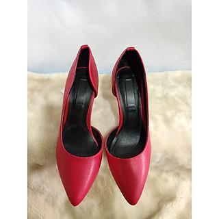 Giày cao gót  nữ hở eo MH103 cao cấp. Giày cao gót 7cm  nữ thời trang màu đỏ