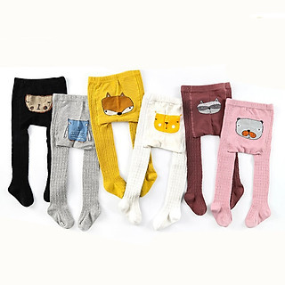 Quần tất họa tiết hình thú đáng yêu cho bé chất cotton cao cấp từ 1 đến 6 tuổi nhiều màu lựa chọn