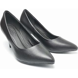 Giày Nữ Cao Gót Công Sở 7 Phân Đen Mờ B2230
