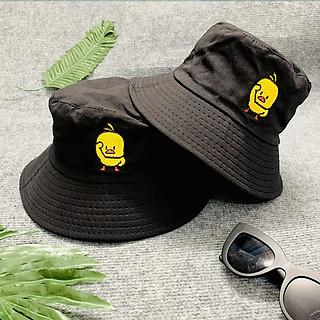 Mũ tai bèo bucket con vịt màu vàng Hạnh Dương thêu độc đáo, dễ thương, vành rộng chống nắng tốt, chất liệu vải mềm mại