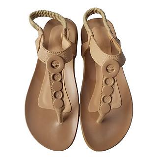 Giày sandal nữ kẹp da bò thật cao cấp BIGGBEN SDN66