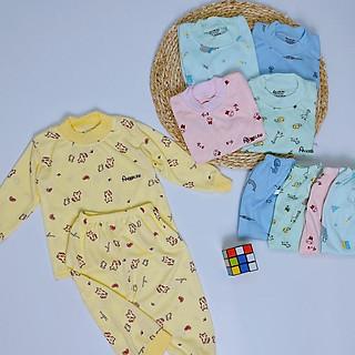Bộ dài tay thun lạnh mẫu A3 nhiều mẫu họa tiết đáng yêu, bộ thun dài tay mặc phòng điều hòa cho bé
