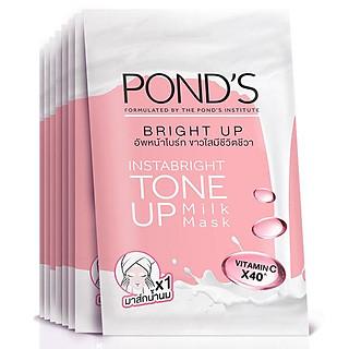 Combo 8 Mặt Nạ Sữa Dưỡng Trắng Nâng Tông Pond'S White Beauty Bright Up Milk Mask 25G/Miếng