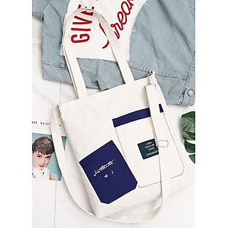 Túi đeo chéo vải canvas LAHstore, túi vải nữ 010, phong cách Hàn Quốc, thời trang trẻ