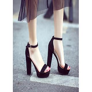 Giày cao gót quai ngang cao 12f - CG306