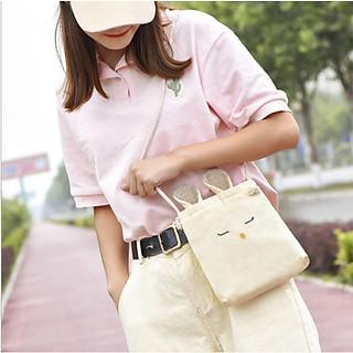 Túi Vải Đeo Chéo Ulzzang Tai Thỏ Mini Siêu Cute UZ11