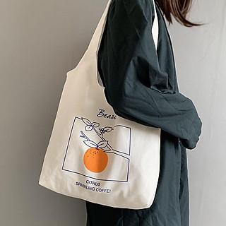 Túi tote vải canvas đi học,đi chơi phon cách Hàn Quốc siêu hot