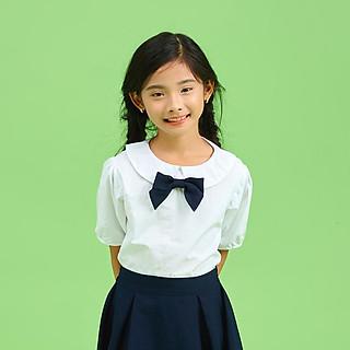 Áo sơ mi đồng phục học sinh nữ xinh- rẻ - bền- đẹo, áo đi học cho bé gái cấp 1 , cấp 2  JADINY DPG008