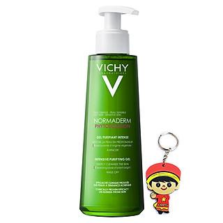 Vichy Normaderm Phytosolution Purifying Cleansing Gel, rửa mặt da dầu mụn (200mL | Tặng móc khoá)