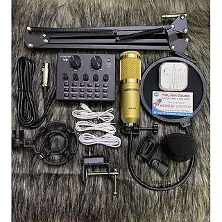combo thu âm livestream V8 và Bm900 full phụ kiện hát rất hay