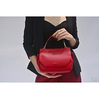Túi da thật - Clara - Màu đỏ