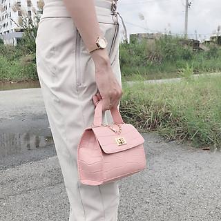 Túi dây xích cầm tay nữ mini đẹp cực chất, chất liệu da PU mỏng (Nhiều màu để chọn)
