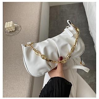 Túi xách nữ sang trọng da cao cấp, túi kẹp nách phối xích trẻ trung, 2 dây đeo TN807