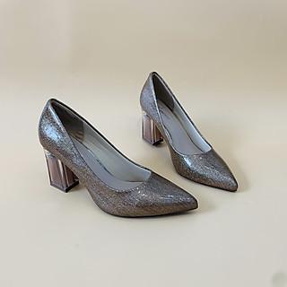 [ Shop giày somina ] Giày VIP gót trụ mika 7cm MT550