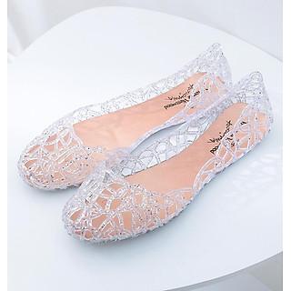 Giày búp bê nữ đế bằng nhựa đi mưa siêu bền đi thoáng và êm chân full size nhiều màu V217