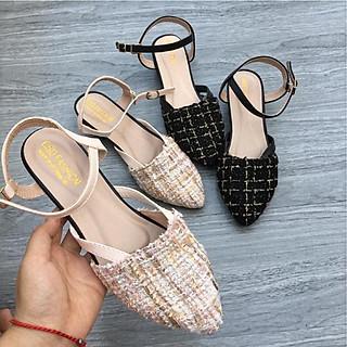 Giày sandal nữ quai ngang Phong Cách Hàn Quốc S102