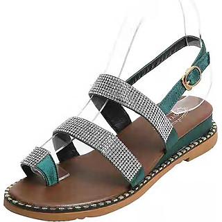 Giày Sandal Nữ Xỏ Ngón Quai Cài Cao 3cm