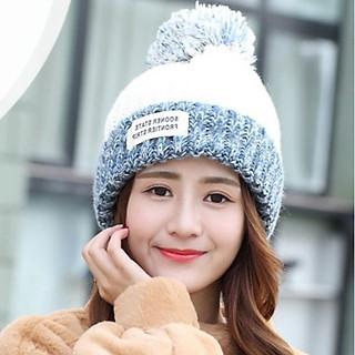 Mũ Len Nữ Nón Len Nữ slightly thời trang Hàn Quốc - DONA21012102