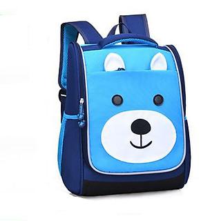 Balo đi học, cặp chống gù cho bé mẫu giáo 3-7 tuổi dáng hộp đứng chắc chắn hình mèo dễ thương - BL006
