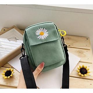 Túi đeo chéo nữ thêu họa tiết hoa cúc thơi trang cực xinh TX_38