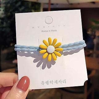 Dây chun buộc tóc hoa cúc Hàn Quốc xinh xắn SC08