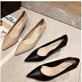 Giày cao gót nữ kiểu Pháp gót 7cm nhọn Y17