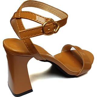 Giày Sandal cao gót Quai Ngang cao 7cm
