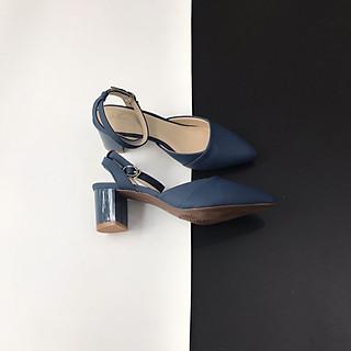 [ Shop giày somina ] Sandal VIP bít mũi gót sơn cao 5cm MT239