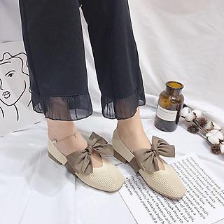 Giày Bệt Vintage Nơ
