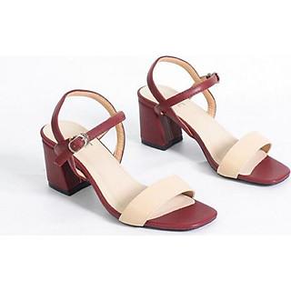 Giày Sandal Cao Gót 6cm Đế Vuông Mix Nhiều Màu Pixie X467