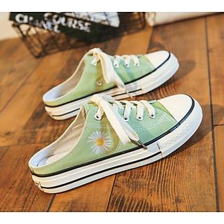 Giày Sneaker đạp gót Hoa cúc GD