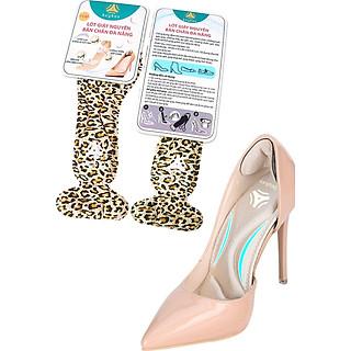 Miếng lót giày cao gót mũi nhọn cho giày bị rộng cao cấp, vải thoáng khí và êm chân- buybox - BBPK55 - (Da beo)