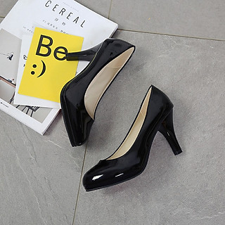 Giày cao gót nữ cao cấp mũi tròn 8 phân phong cách thời trang 146