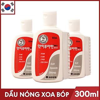 Bộ 3 Chai Dầu nóng Hàn Quốc Antiphlamine ( Chai100ml )